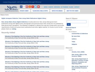 dspace.njstatelib.org screenshot