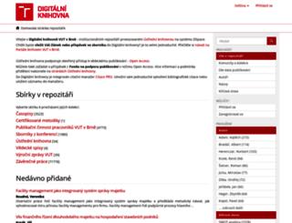 dspace.vutbr.cz screenshot