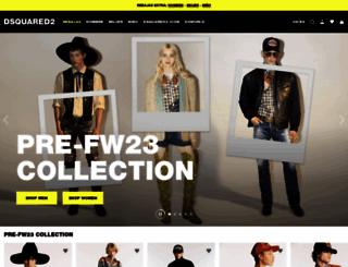 dsquared2.com screenshot