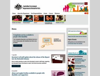 dss.gov.au screenshot