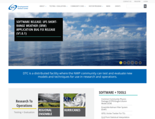 dtcenter.org screenshot