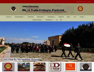 dtcf.ankara.edu.tr screenshot