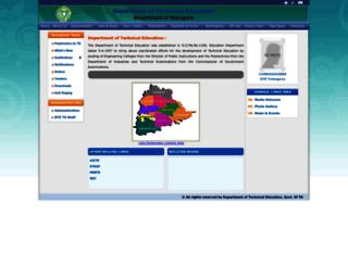 dte.telangana.gov.in screenshot
