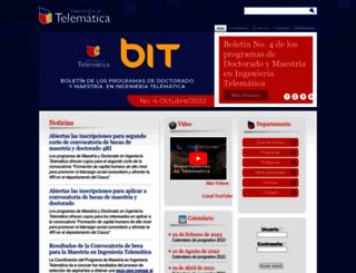 dtm.unicauca.edu.co screenshot