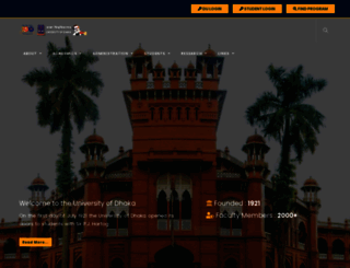 du.ac.bd screenshot
