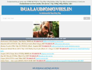 dualaudiomovies.in screenshot