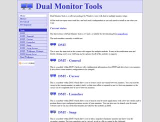 dualmonitortool.sourceforge.net screenshot