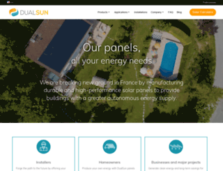 dualsun.fr screenshot
