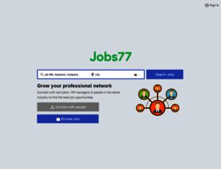 dubai.jobs77.com screenshot