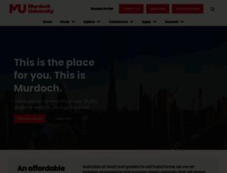 dubai.murdoch.edu.au screenshot