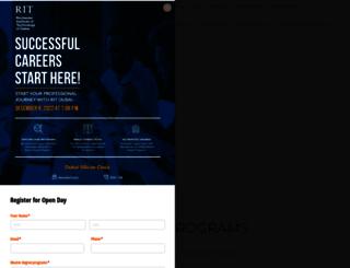 dubai.rit.edu screenshot