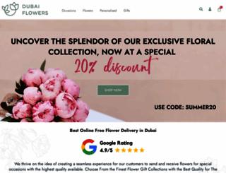 dubaiflowers.ae screenshot