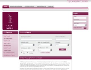 dubaipropertysearch.net screenshot
