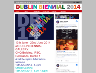 dublinbiennial.com screenshot