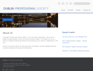 dublinprofessionalsociety.com screenshot