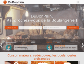 dubonpain.fr screenshot