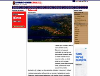dubrovnikcroatie.fr screenshot