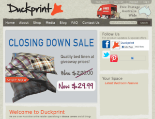 duckprint.com.au screenshot