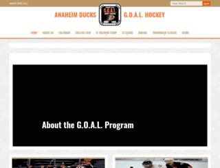 ducksgoal.sportngin.com screenshot