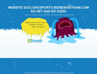 duclongsports.bizwebvietnam.com screenshot