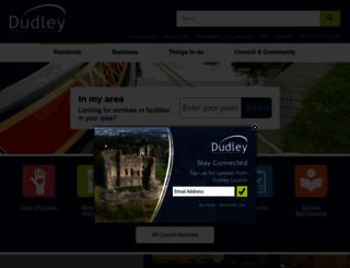 dudley.gov.uk screenshot
