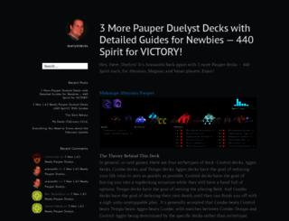 duelystdecks.wordpress.com screenshot