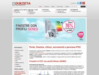 duezetainfissi.eu screenshot