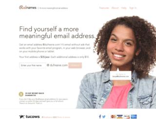 dufresne.com screenshot