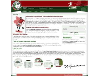 dugout-online.com screenshot