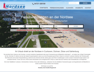 duhnen-ferienwohnung-cuxhaven.de screenshot