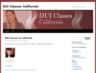 duiclassescalifornia.com screenshot