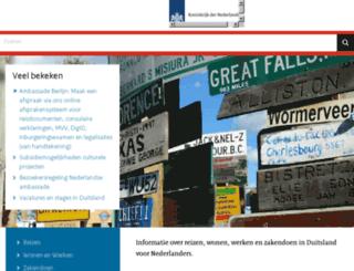 duitsland.nlambassade.org screenshot