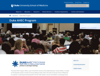dukeahec.mc.duke.edu screenshot