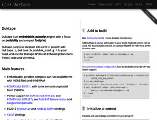 duktape.org screenshot