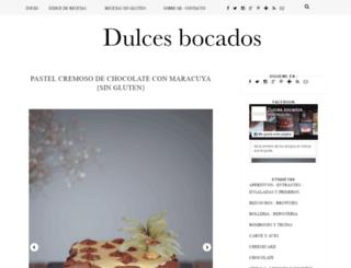 dulcesbocados.com screenshot