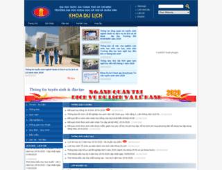 dulich.hcmussh.edu.vn screenshot