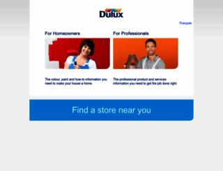 dulux.ca screenshot