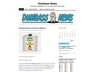 dumbassnews.wordpress.com screenshot