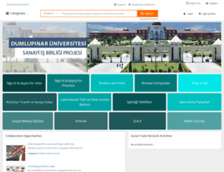 dumlupinaruniversitesi.globalpiyasa.com screenshot