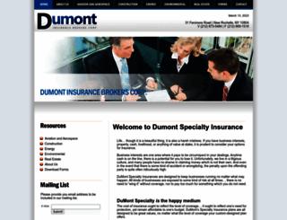 dumontspecialtyins.com screenshot