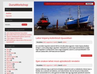 dunaworkshop.hu screenshot