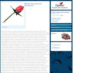 dunbar.tributes.com screenshot