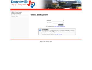 duncanville.dpnetbill.com screenshot