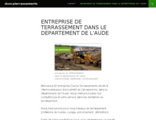 duncaterrassements.com screenshot