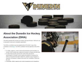 dunedinicehockey.co.nz screenshot
