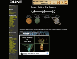 duneinfo.com screenshot