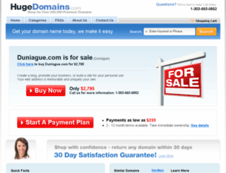 duniague.com screenshot