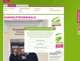 dunkelsteinerwald.gruene.at screenshot