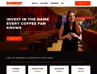 dunkinfranchising.com screenshot
