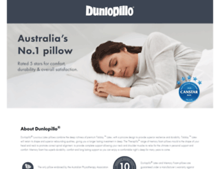 dunlopillo-bedding.com.au screenshot